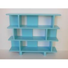 Vendi 3 Tier Bookcase in Blue