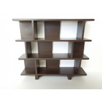 Vendi 3 Tier Bookcase in Espresso