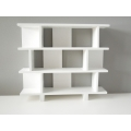 Vendi 3 Tier Bookcase in White