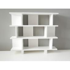Vendi 3 Tier Bookcase in White
