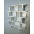 Vendi 4 Tier Bookcase in White