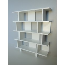 Vendi 4 Tier Bookcase in White