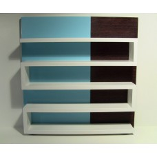 Zig Zag Shelving Unit in Blue