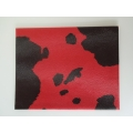 Red / Black Cow Print Area Rug
