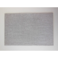 Light Gray Crosshatch Area Rug