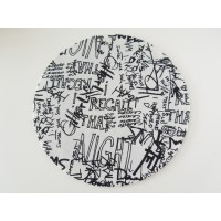 Graffiti Round Area Rug