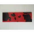 Red / Black Cow Print Runner Rug