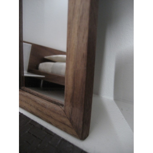 Modern dollhouse furniture m112 pods walnut framed for Framed floor mirror