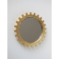 Gear Wall Mirror in Gold