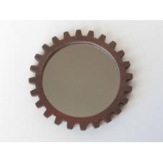 Gear Wall Mirror in Rust