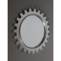 Gear Wall Mirror in Silver