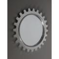 Gear Wall Mirror in Silver