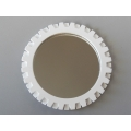 Gear Wall Mirror in White
