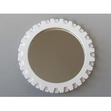 Gear Wall Mirror in White