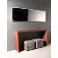 White Thin Profile Wall Mirror