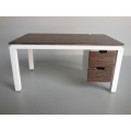 Parsons Desk in White and Wenge Wood
