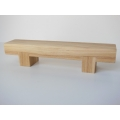 Block Bench in White Oak