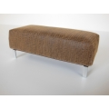 Bolero Bench in Brown Leather Croc Pattern