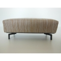 Bolero Bench in Brown / Beige Stripe with Angled J Leg