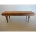 Nolan Bench in Walnut with Tan Leather Cushion