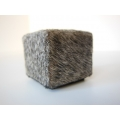 Gray Cowhide Cube
