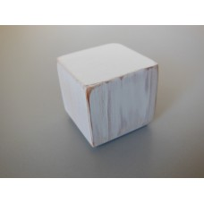 Distressed White Cube