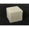 Embossed Off-White Microsuede Cube