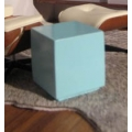 Blue Painted Wood Cube