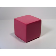 Pink Painted Wood Cube
