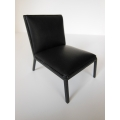 Carmel Chair in Black Leather