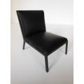 Carmel Chair in Black Leather