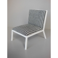 Carmel Chair in Black / White Houndstooth