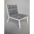 Carmel Chair in Black / White Hatch Print