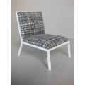 Carmel Chair in Black / White Hatch Print