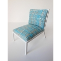 Carmel Chair in Blue-White Woven