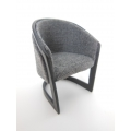 Courbes Dining Chair Black/Gray