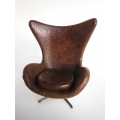 Egg Chair in Vintage Brown Fabric