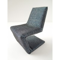 Klein Chair in Dark Blue Chambray