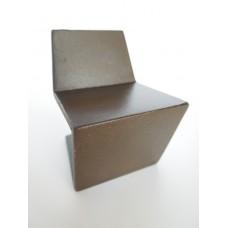 Klein II Chair in Natural Steel