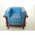 Le Corbusier Petit Lounge Chair Blue/Burgundy