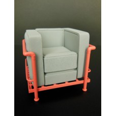 Le Corbusier Petit Lounge Chair Gray/Coral