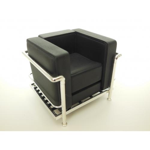 Le Corbusier Petit Lounge Chair Stock Black