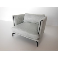 Lusso Chair in Gray Micro Suede