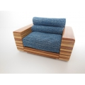 MDO Chair with Denim Cushion