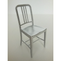 Navy Chair in Silver