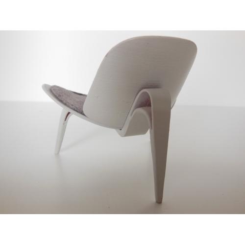 modern dollhouse furniture m112 pods hans wegner shell chair in