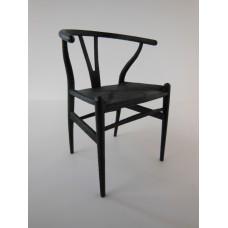Wishbone Chair - Black with Black Seat