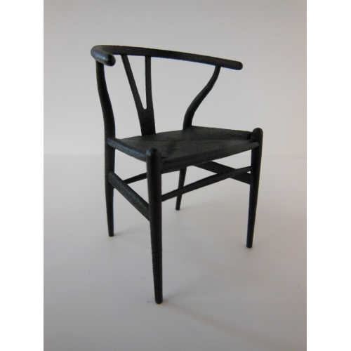 modern dollhouse furniture m112 pods wishbone chair black with