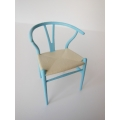 Wishbone Chair - Blue Series (Light Blue) with Natural Seat