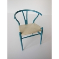 Wishbone Chair - Blue Series (Sky Blue) with Natural Seat